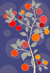 retro apples background